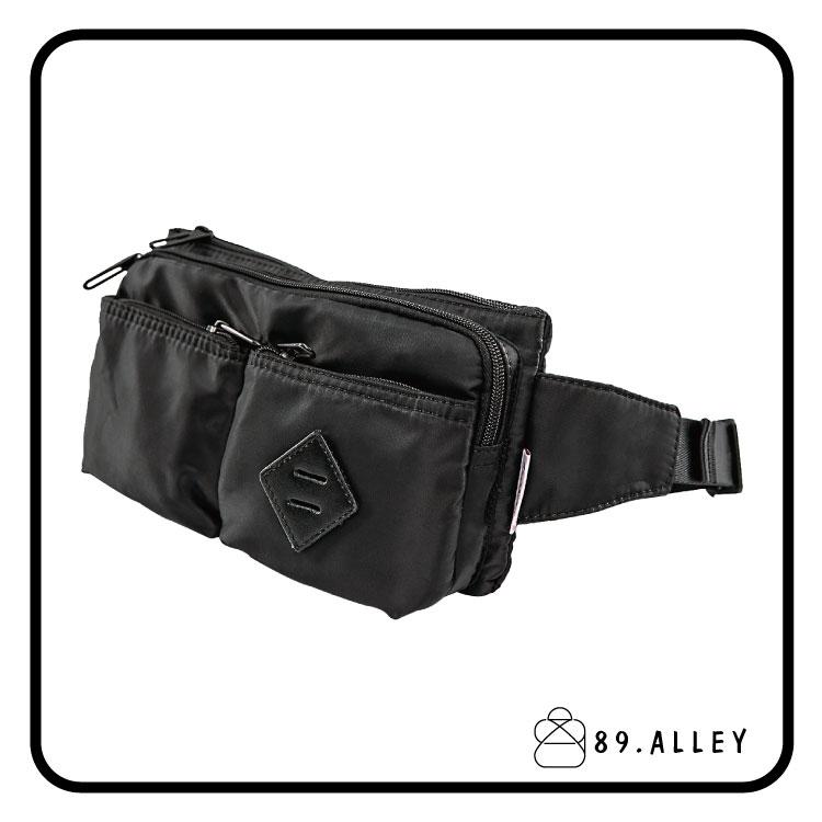 腰包 單肩包 女包男包 黑色系防水包 輕量尼龍多層情侶防搶包 89.Alley ☀1色 HB89141 1