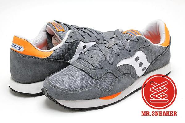 Mr. Sneaker:☆Mr.Sneaker☆SAUCONYShadowDXNTRAINER復古百搭慢跑鞋男款灰橘配色【單筆消費滿1000元全會員結帳輸入序號『CNY100』↘折100