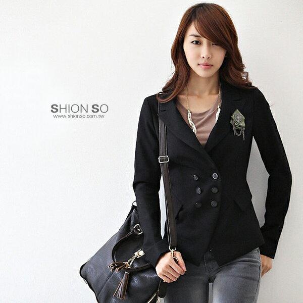 享瘦衣舍中大 ‧~B3060~ 雙排扣顯瘦西裝外套