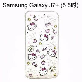 HelloKitty空壓氣墊軟殼[活潑]SamsungGalaxyJ7+J7Plus(5.5吋)【三麗鷗正版】