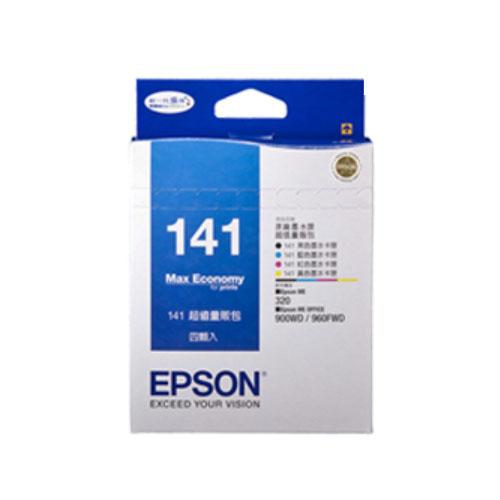 【EPSON 墨水匣】T141650 (141) 原廠四色量販包墨水匣