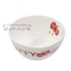 〔小禮堂〕Hello Kitty 日製造型陶瓷杯《小.白橘紅.楓葉.果實》可愛又實用