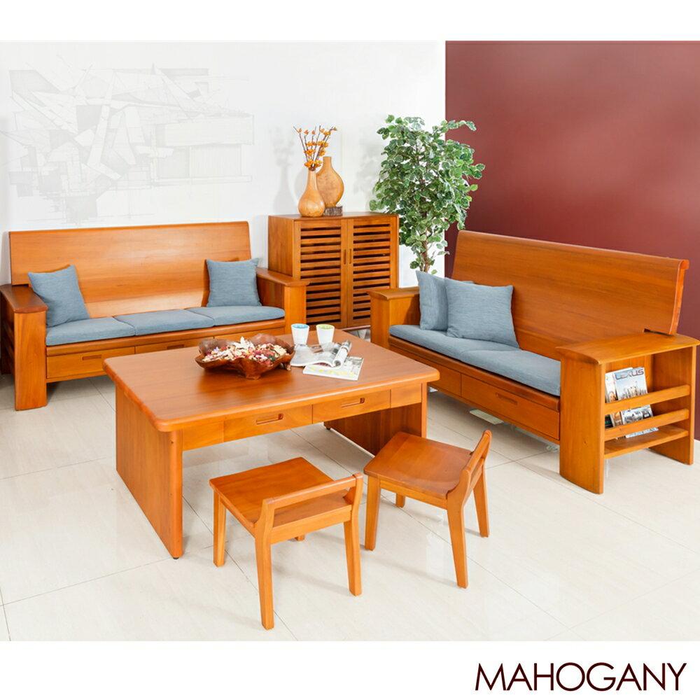 茶几板凳 椅凳 木頭椅 原木桃花心木 現代小板凳 41cmX39cmX50cm 瑪荷尼家具Mahogany 2