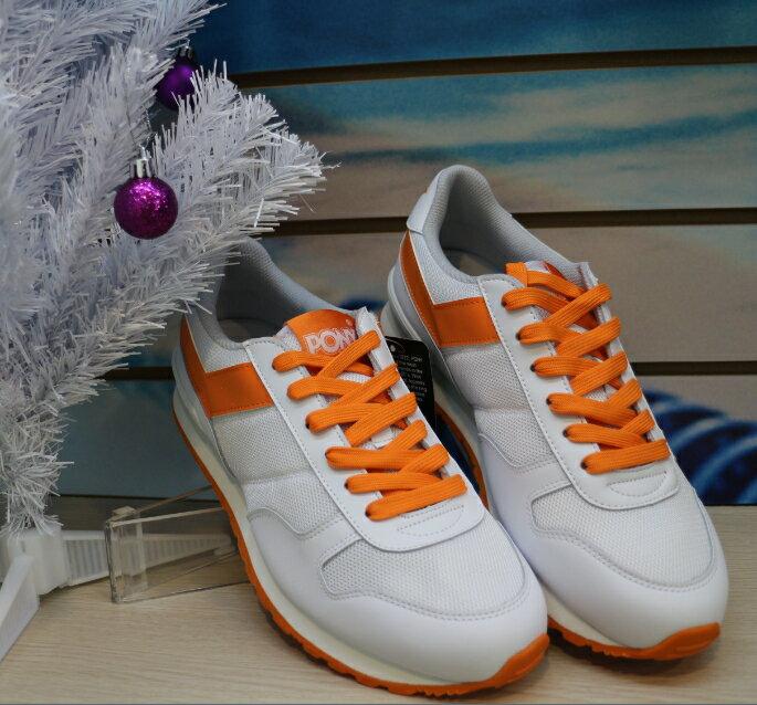 【陽光樂活】特價出清!!!PONY 休閒復古運動鞋 男 內增高 42M1SO29SW 白橘
