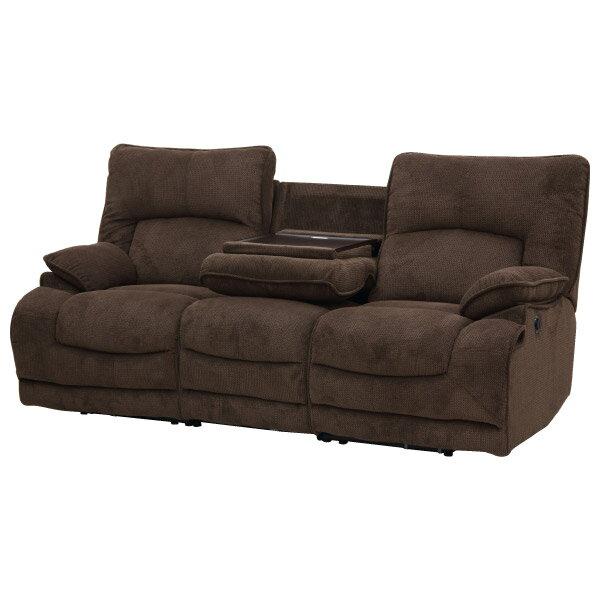 ◎布質3人用電動可躺式沙發 HIT 804 DBR NITORI宜得利家居 5