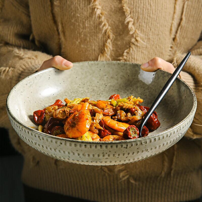 拉麵碗創意陶瓷湯盤深盤子湯碗大號菜盤8寸個性沙拉碗復古歐式家用餐具【DD5710】