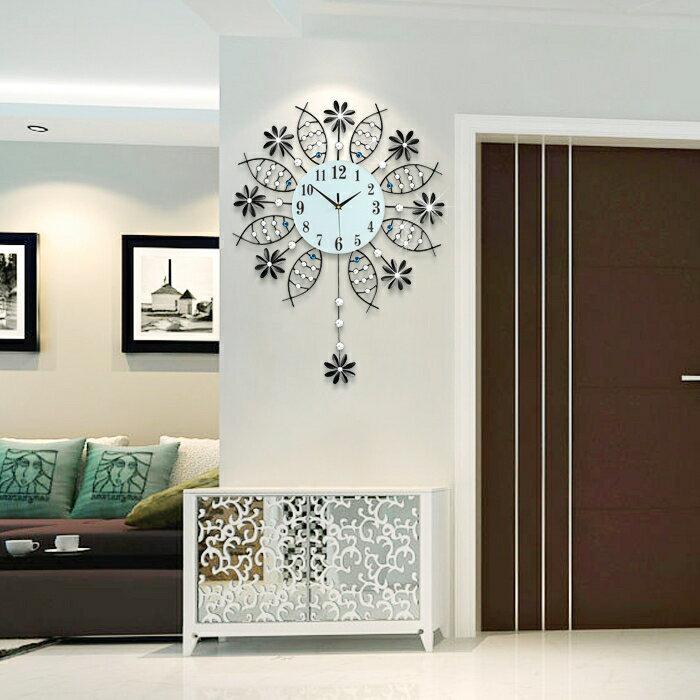 掛鐘歐式鐘錶掛鐘客廳現代簡約家用大氣時尚個性靜音臥室時鐘YJT