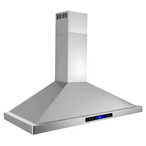 "AKDY 48"" Stainless Steel Wall Mount Range Hood Touch Screen Display Light Lamp Baffle Filter 2"