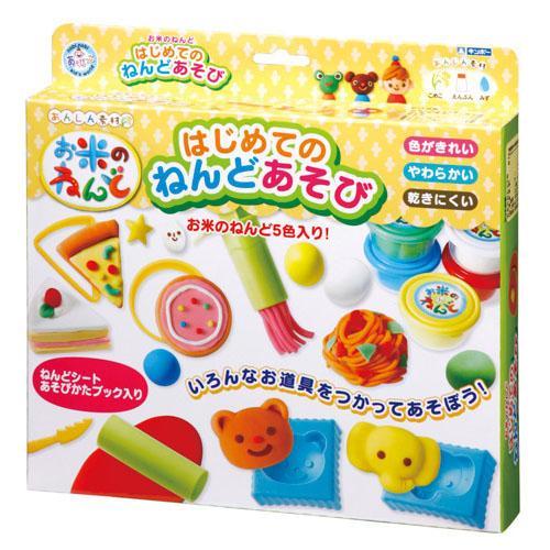 日本銀鳥無毒米黏土第一次玩黏土5色組(附模具)玩具黏土美術勞作*夏日微風*