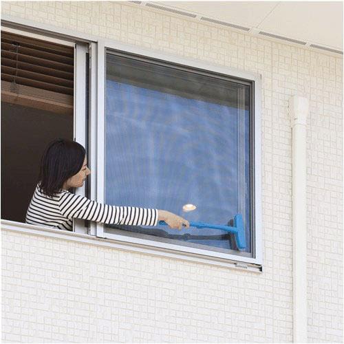 【超取免運】日本 Nippon Seal 加長型 可折疊 超省力 強力紗窗清潔刷*夏日微風* 5