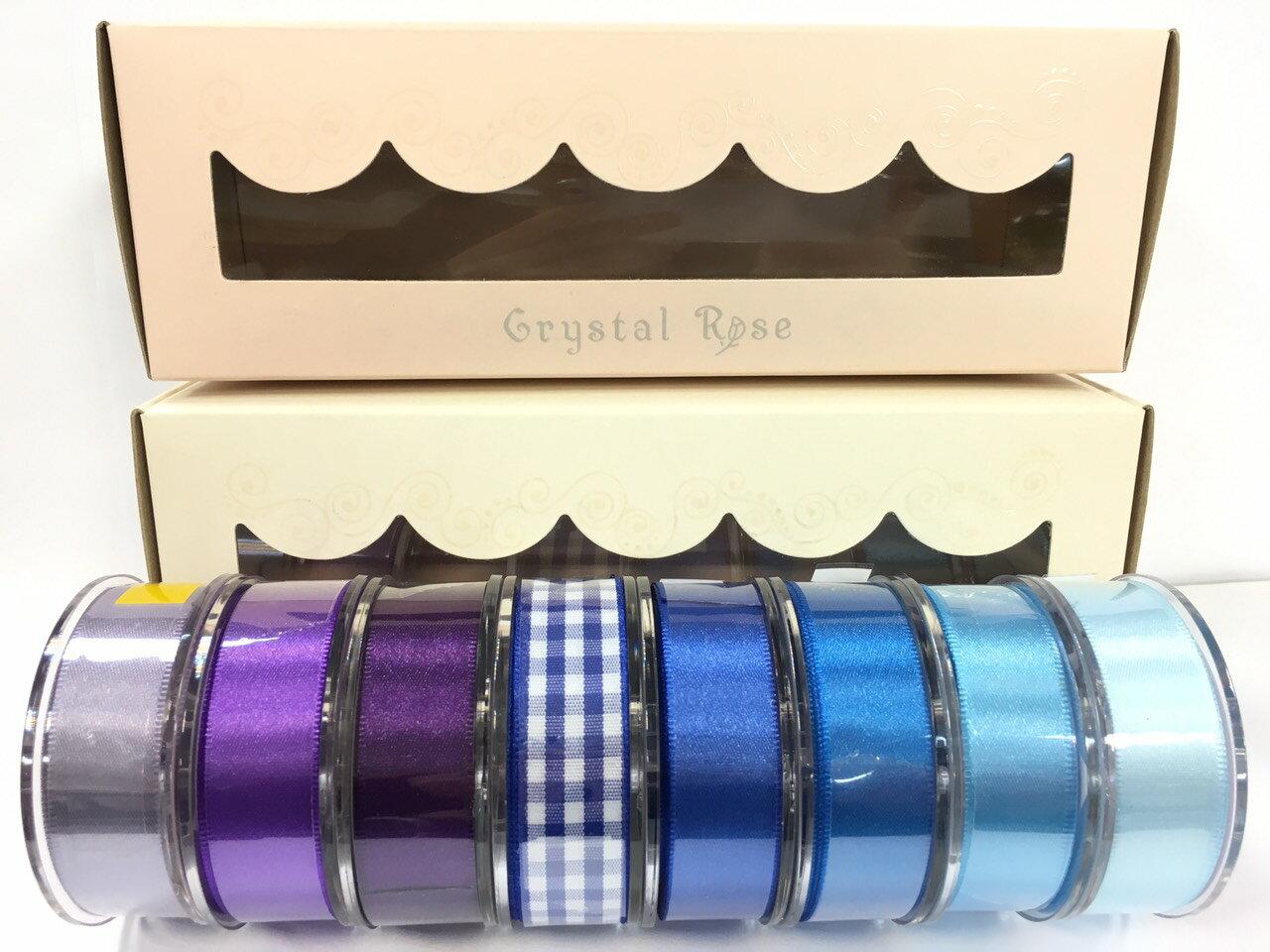 低調奢華盒裝-雙面緞/經典格紋緞帶 15mm 8入(3款) 1