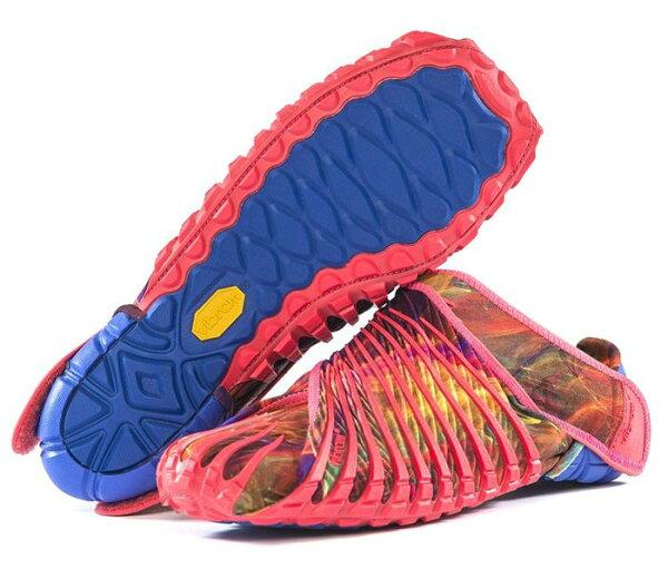 【VibramFivefingersVFF義大利】Furoshiki黃金大底包巾鞋風呂敷鞋紅色16UAC07