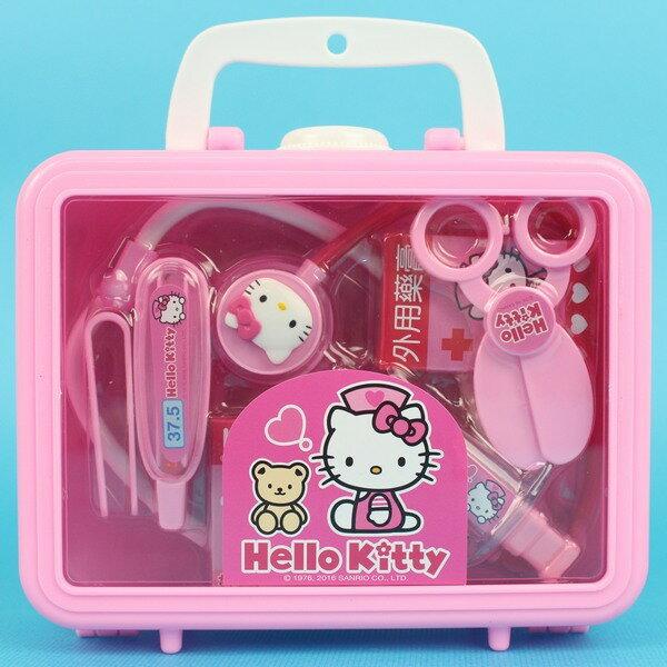HELLO KITTY凱蒂貓醫生組 2012A-5KT豪華手提 KT貓醫護箱 一盒入{促350}護士遊戲~ ST安全玩具~