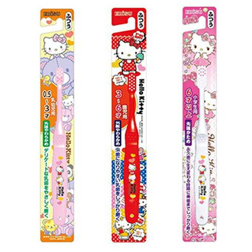 日本EBiSU惠百施HelloKitty兒童牙刷0.5-3歲3-6歲6歲以上(單支)【德芳保健藥妝】(顏色隨機出貨)