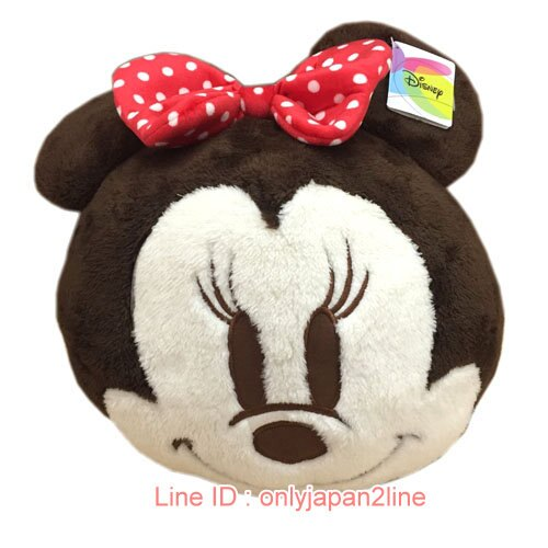 【真愛日本】17012300025暖手枕-12吋球球米妮   迪士尼 米老鼠米奇 米妮   暖手枕  靠枕  抱枕