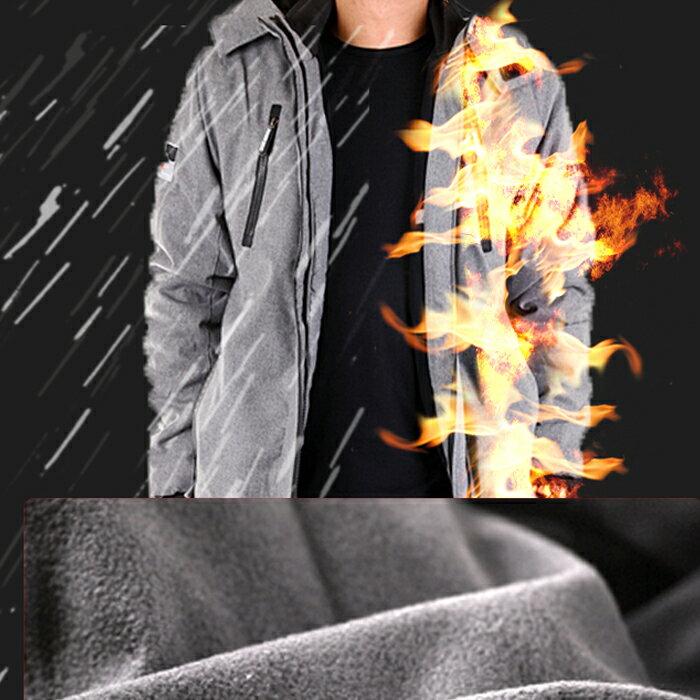 【限時免運!】CS衣舖 同SuperDry版型 高機能 防風 防潑水 內刷毛 可拆帽 雙拉鍊 衝鋒外套 三色 80099 1