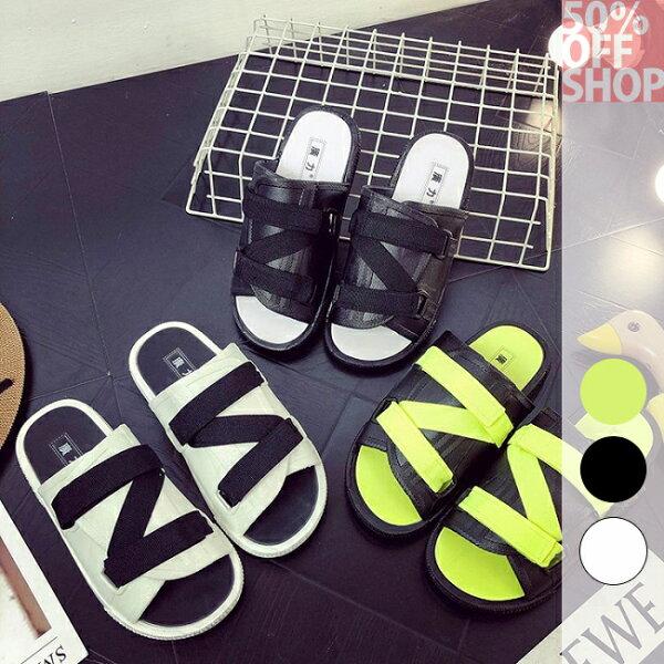 50%OFFSHOP時尚涼拖鞋韓版坡跟休閒涼拖鞋【AY035774SH】