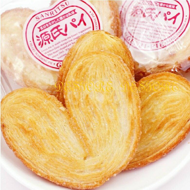 有樂町進口食品  三立源氏派 愛心形狀的酥餅 千層派餅 源氏派 J105 4901830119671 2