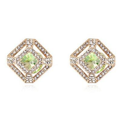 水晶耳環925純銀耳針式~高貴亮麗鑲鑽 母親節生日情人節 女飾品5色73bd153~ ~~