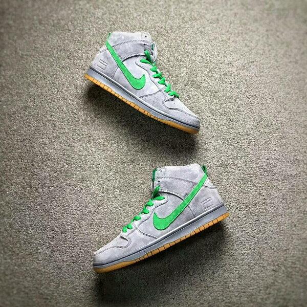 NikeSBZoomDunkLowPro高筒灰綠男款