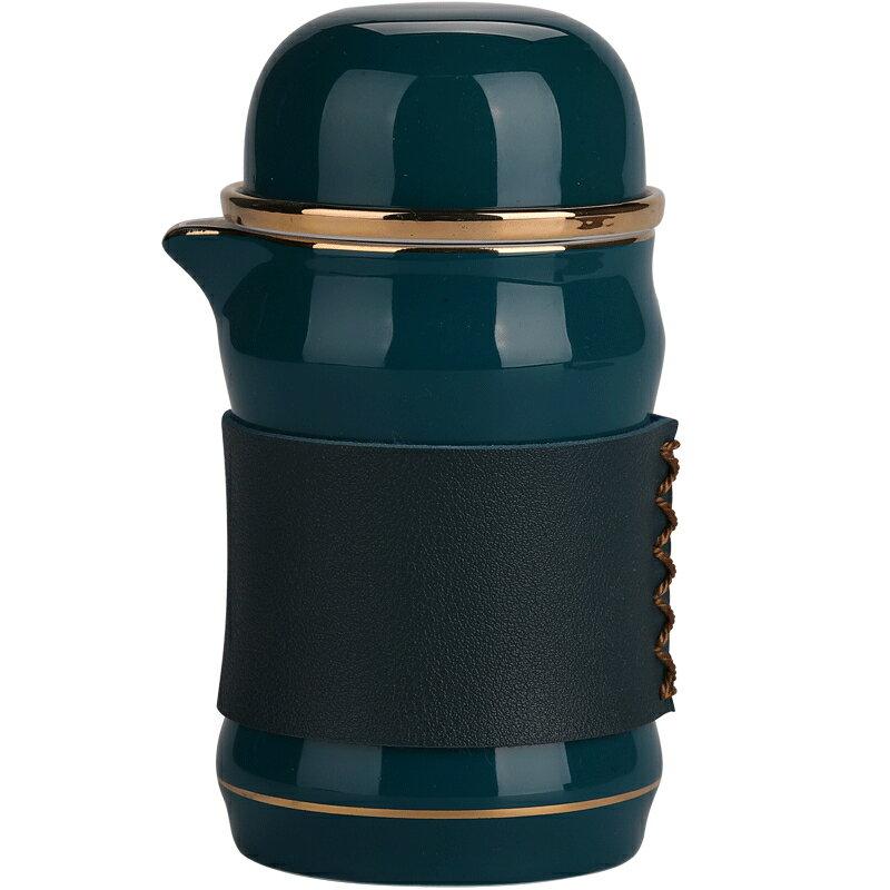 豪峰快客杯一壺三杯旅行功夫茶具便攜式家用套裝小包泡茶陶瓷杯