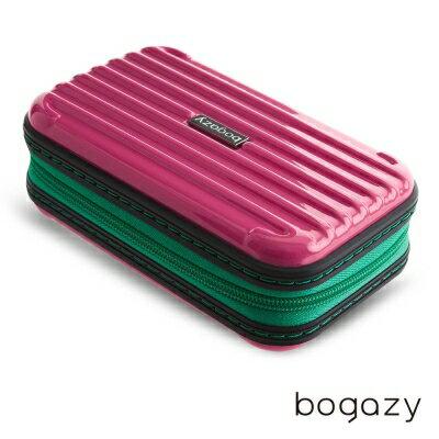 【加賀皮件】Bogazy 多色 時尚 撞色 多功能 過夜包 收納包 盥洗包 手拿包 硬殼化妝包 JCBG