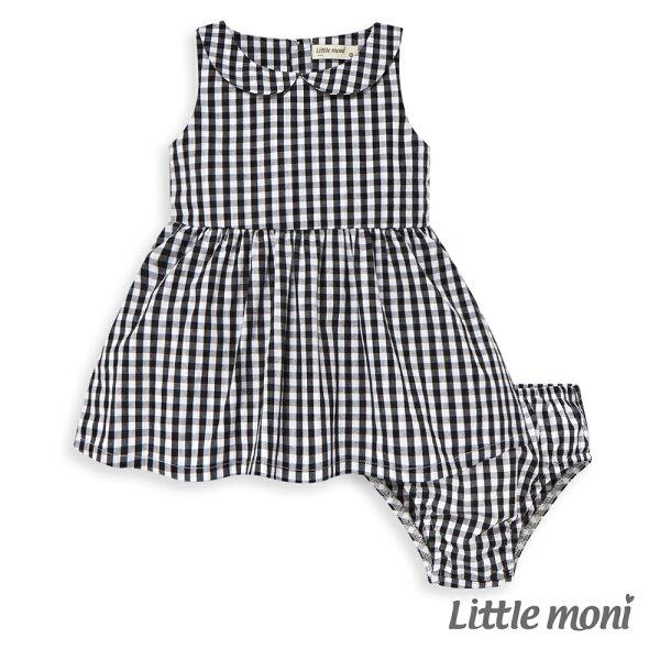 Littlemoni兩件組背心洋裝-黑色