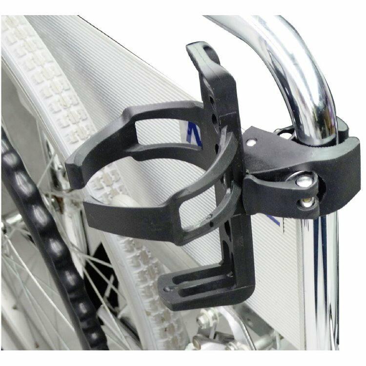 輪椅用飲料架 - 輪椅使用者適用 用途廣泛 飲料瓶、寶特瓶、保溫瓶等等皆適用