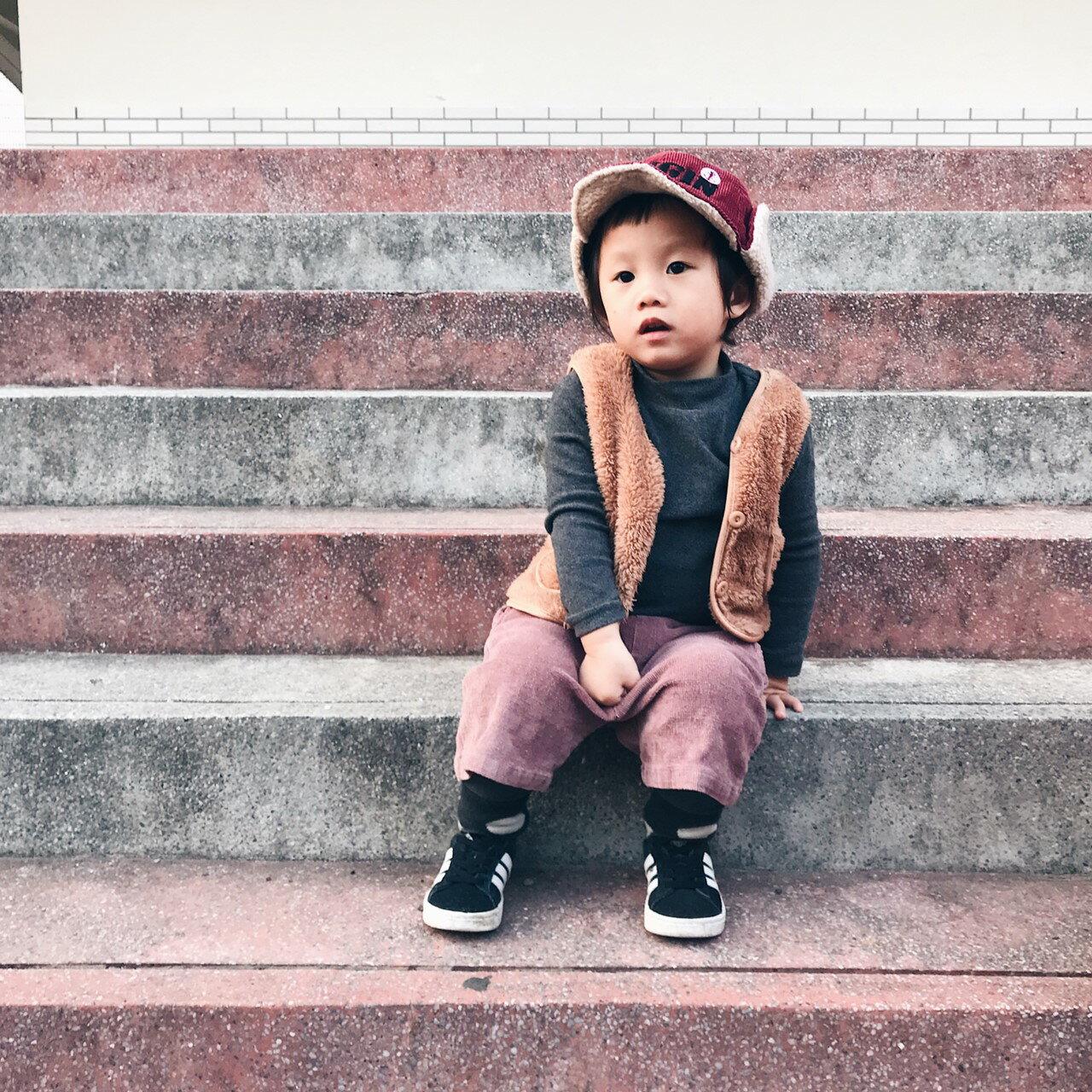 小萌毛絨開扣背心 內搭 單穿 中性款 夾克 外套 背心 橘魔法 男童 女童 現貨 兒童 童裝【p0061196258356】 6