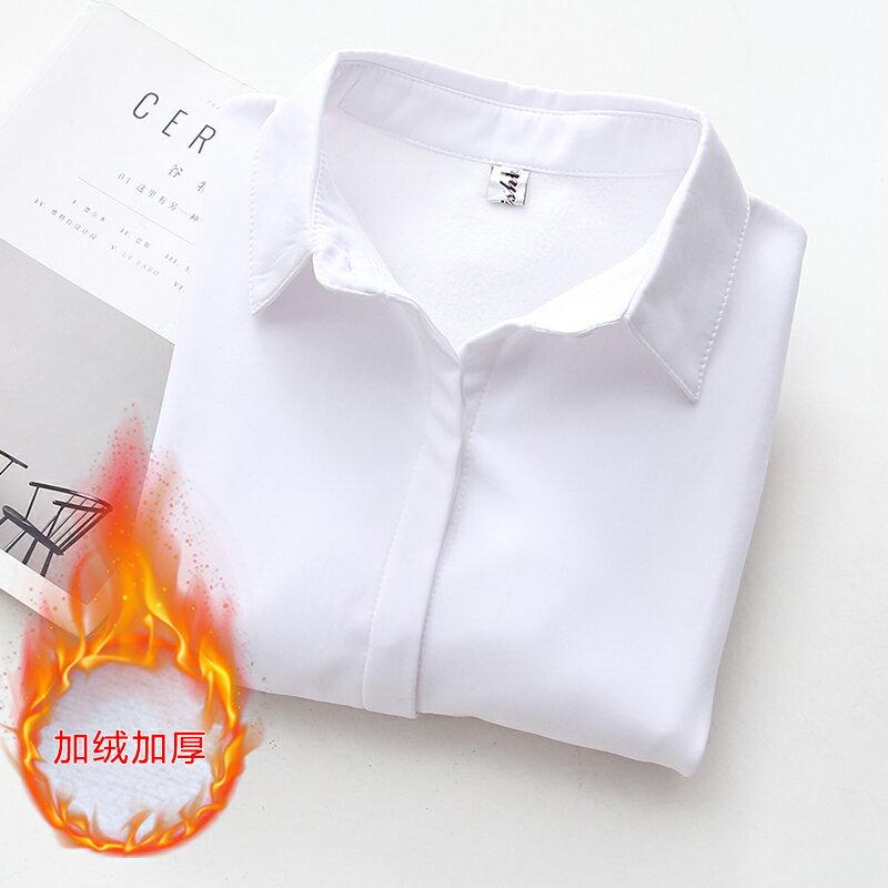 ~滿499  滿700再折100~~現 預~內刷毛純色保暖襯衫尖領俐落修身款~GF7113