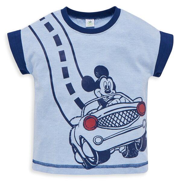 Dinsey米奇系列帥氣賽車手上衣-交織藍