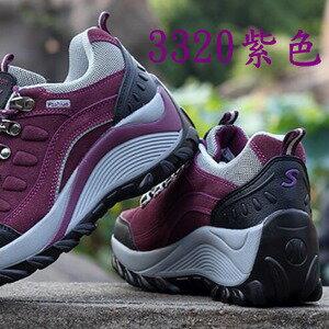 美麗大街【W3320E2】戶外休閒鞋登山戶外運動鞋(3320紫色)