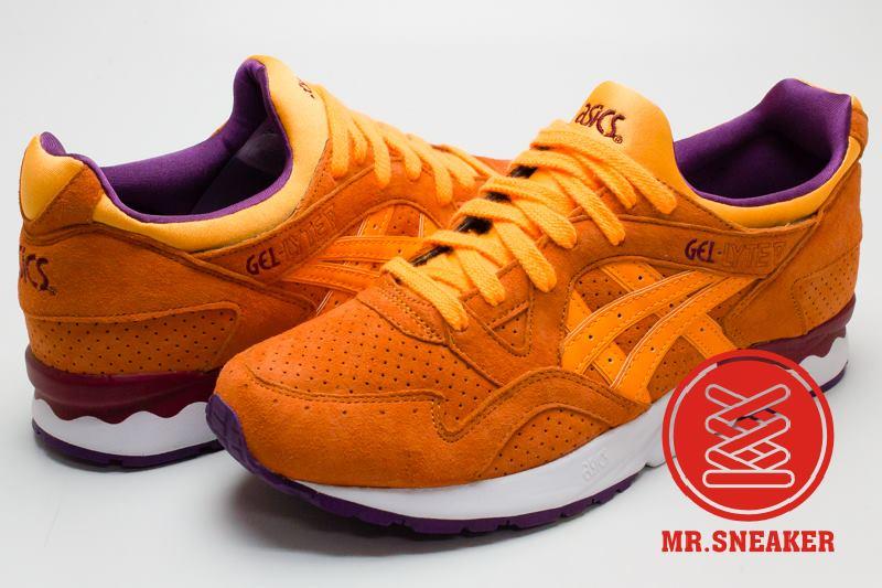 ☆Mr.Sneaker☆ ASICS Tiger GEL-LYTE V 復古跑鞋 襪套式鞋舌 包覆/穩定 緩震中底 男款 橘色