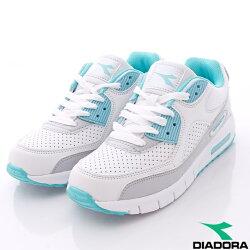【DIADORA】透氣輕量慢跑鞋經典款-WC2885白藍(女段)