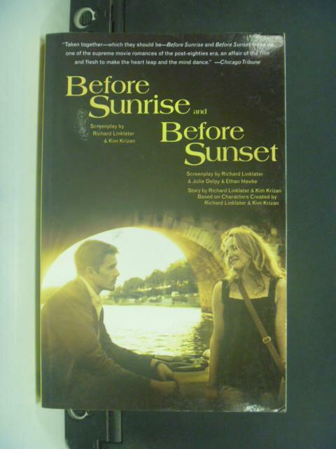 【書寶二手書T6/翻譯小說_KNV】Before Sunrise and Before Sunset: Two Scre