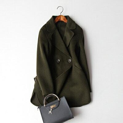 【米蘭秀】【奇珍館】:毛呢外套羊毛大衣-氣質寬鬆百搭簡約女外套3色73op31【獨家進口】【米蘭精品】