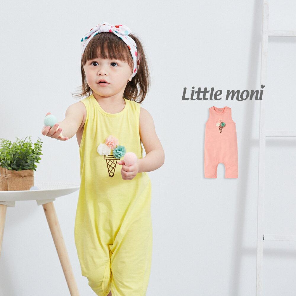 Little moni 立體冰淇淋連身褲-粉紅(好窩生活節) 0
