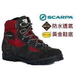 【【蘋果戶外】】Scarpa 60023G 紅 『贈運動襪+鞋墊』 義大利登山鞋 GORE-TEX 透氣 黃金大底 vibram 高筒