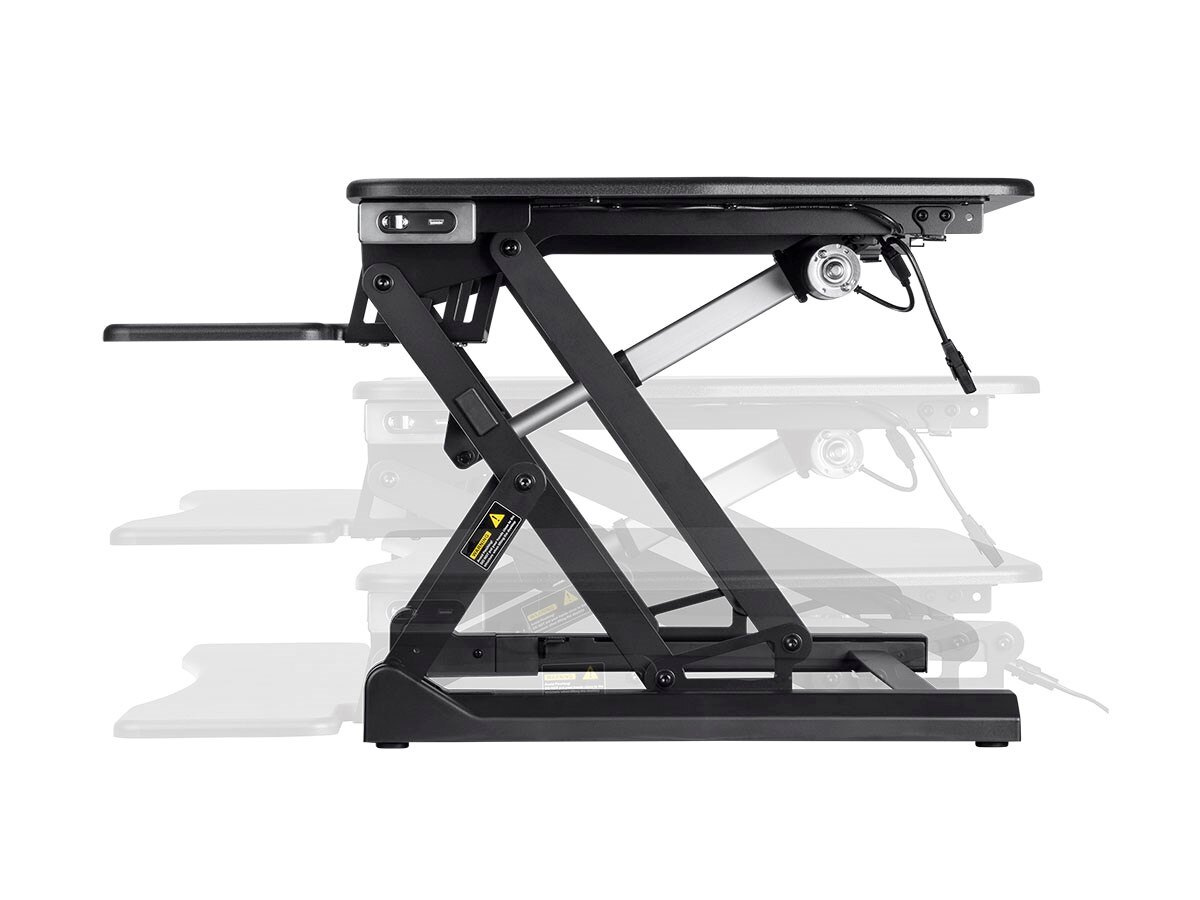 "MonopriceElectric Motorized Height Adjustable Sit-Stand Desk Converter 36"" Table Top 2"