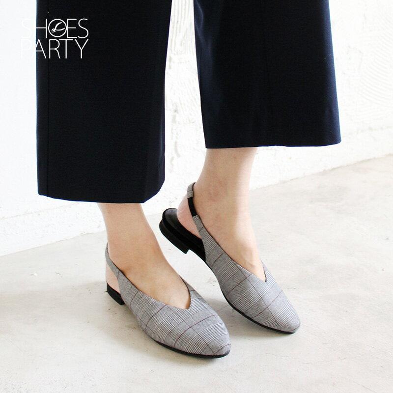 【P2-18102F】小腳效果深V平底便鞋_Shoes Party 1