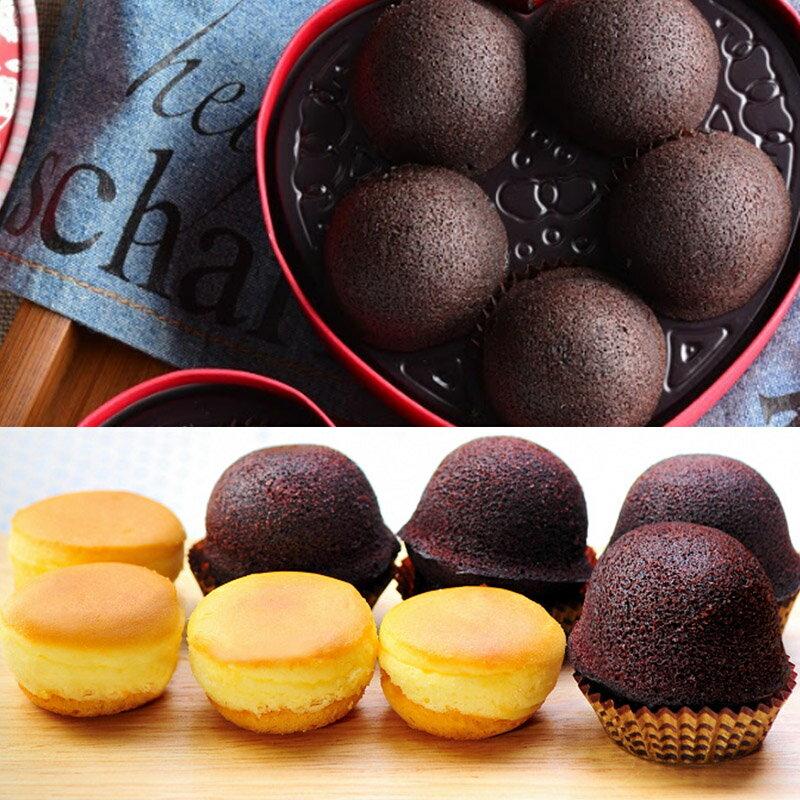 愛戀布朗尼(5入)+巧克力布朗尼(12入)+原味乳酪球(32入)各1盒(免運)【杏芳食品】