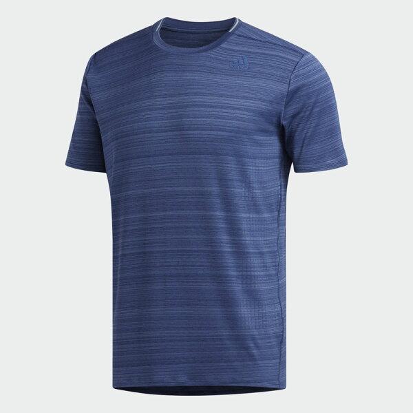 ADIDASSUPERNOVASOFT男裝短袖休閒柔軟排汗舒適藍【運動世界】CF5124