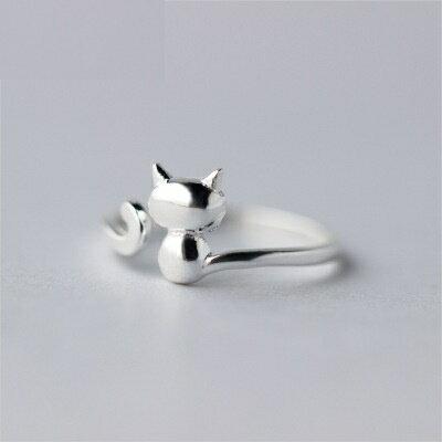 925純銀戒指開口戒~可愛迷人細緻亮麗七夕情人節 女飾品73dt61~ ~~米蘭 ~
