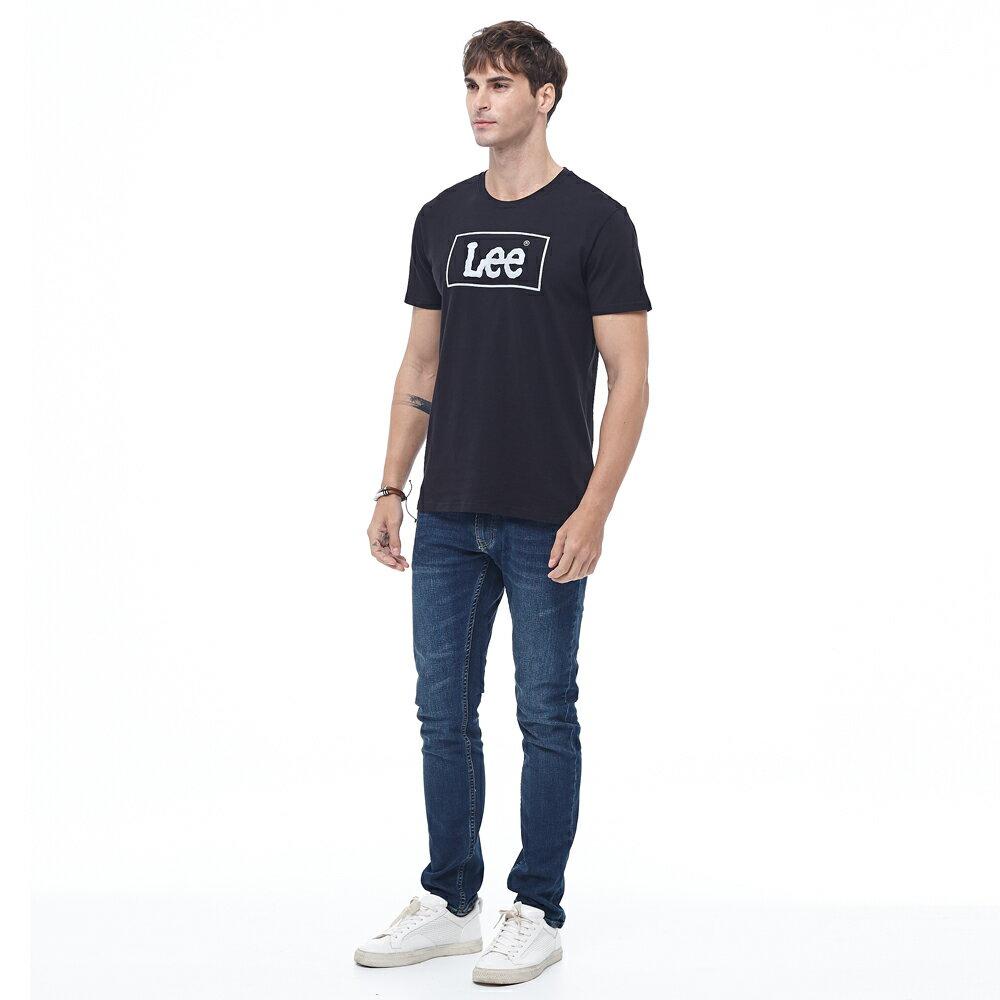 Lee 短T 方框LOGO 圓領 男 黑 4