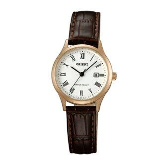 ORIENT 東方錶/復古羅馬數字石英錶/玫瑰金色/FSZ3N006W