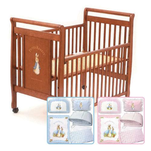 【促銷】奇哥 比得兔 原木大床+比得兔 粉彩抗菌六件床組~L 粉/藍