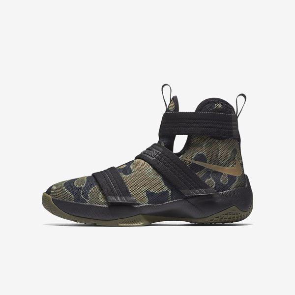 Nike LeBron Soldier 10 LB 士兵 女鞋 大童 高筒 籃球鞋 迷彩 【運動世界】 845121-022【12/1-31 單筆滿2000結帳輸入序號 XmasGift-outdoo..