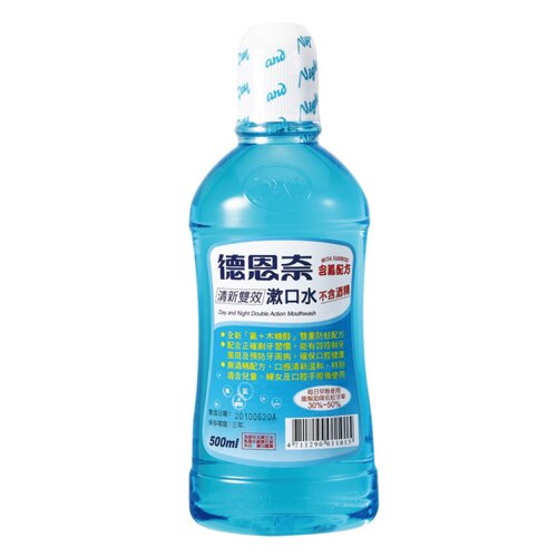 德恩奈 清新雙效漱口水-含氟配方500ml【德芳保健藥妝】