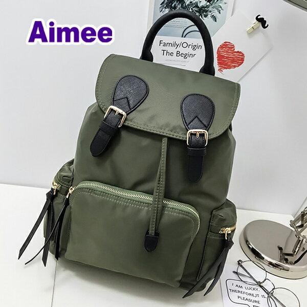 【預購】【Aimee】靈巧34公分歐風精品包‧歐洲小旅行義式巴貝里尼羅馬後背包《綠色訂購區》防水帆布包水桶包媽媽包手提包多口袋包