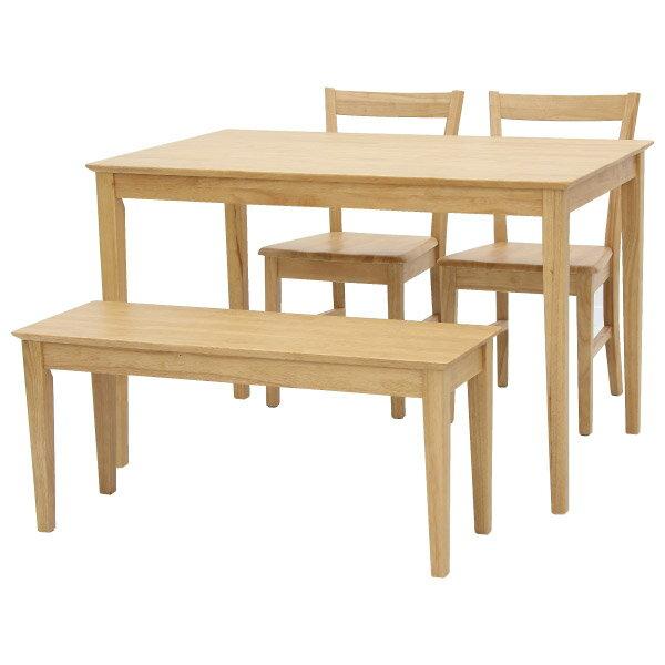 ◎實木餐桌椅四件組 SOLID2 LBR NITORI宜得利家居 1
